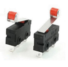 10 Pcs Mini Micro Limit Switch Roller Lever Arm Spdt Snap Action