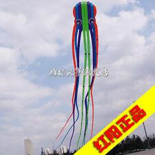 3D 23m color 1 Line Stunt Parafoil Octopus POWER Sport Kite outdoor toy freeship
