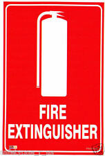 5 pack Fire Extinguisher Location Stickers for car boat trucks 98mm x 148mm