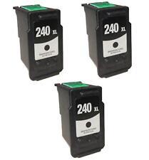 3 PK NON-OEM INK FOR CANON PG-240XL BLACK PIXMA MX439 MX522 MG3122 MG3520 MX452
