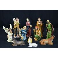 "Delux Religious Nativity Figure Set For Christmas Decoration 11 Pieces 8"" 20CM"