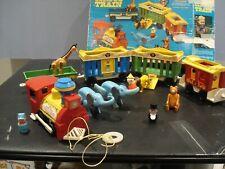 1973 fisher price 991 circus train w/ stone eyes clown w/ original box & extras