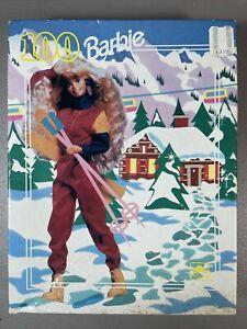 New Vintage 1991 Skiing Barbie Doll 100 Piece Puzzle Ski Christmas Winter Lodge