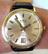 Superb Gents 1960's Swiss GP BWC TEE 24J Automatic ETA 2522 Date Watch Serviced