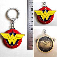 DC Comics Wonder Woman Logo 3D 6cm Metal Key chain ring New & Hot GIFT UK