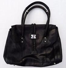 MODALU Black Leather Grab Bag Black with Dust Bag NEVER USED!