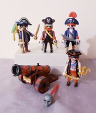 Playmobil pirates bundle, accessories, parrot, cannon with one skull missile