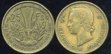AFRIQUE OCCIDENTALE FRANCAISE   25 francs 1956