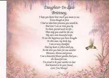 Personalized Daughter-In-Law Poem Beautiful Gift for Any Occassion or Holiday