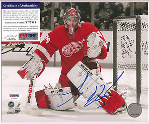 Jimmy Howard Signed 8x10 Photo PSA DNA COA Autographed Detroit Red Wings d