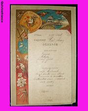 MN125 - MENU MESSAGERIES MARITIMES 1901 PAQUEBOT HAÏ PHONG