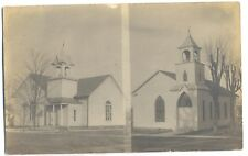 Pleasantville NY - TWO CHURCHES - RPPC Postcard