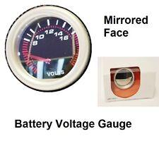 Voltaggio della batteria Gauge BIANCO LED Dial REV olio temp SPECCHIO faccia 52mm CONTATORE