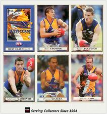 2004 Herald Sun AFL Trading Cards Base Card Team Set West Coast (11)