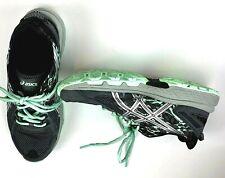 ASICS Shoes 8.5 M Gray Black GEL-VENTURE 6 T7G6Q  Running Athletic Lace Womens
