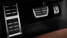 Original Audi A4 / A5 / Q5 Edelstahl Pedalkappen Set Automatik inkl. Fußstütze