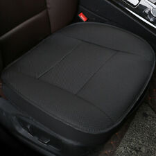 Black Universal Car PU Leather Breathable Front Seat Cover Protector Cushion Mat
