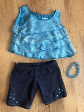 Build A Bear Clothes Turquoise Lace Top And Jeans Bead Bracelet
