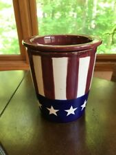 Ceramic Dip Cooler 2 Piece Dip Server Keeps Dip Cold with Ice Stars & Stripes