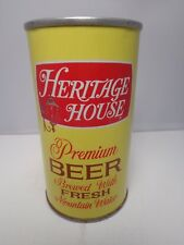 HERITAGE HOUSE PREMIUM STRAIGHT STEEL PULL TAB BEER CAN #75-39  PITTSBURGH, PA.