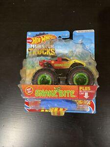 Hot Wheels Monster Trucks Monster Jam Snake Bite Treasure Hunt New For 2021 VHTF