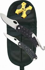 Timberline Manual Opening Liner Lock Knife Combo, D2 Steel Blades + Accessories