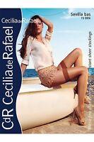 Cecilia de Rafael Sevilla Gloss Shiny Thigh High Hold Up Stockings FREE SHIP