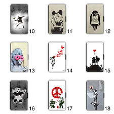Banksy Graffiti Wallet Phone Case iPhone 5 SE 6 7 8 Plus X XR Max Panda Gorilla