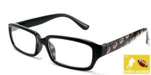 Reading Glasses Mens Eyewear Black Football Printed Readers New +1.00 to +3.50