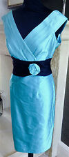 Fabulous Silk Turquoise Mother of the Bride Two-piece by Presen UK Size 12