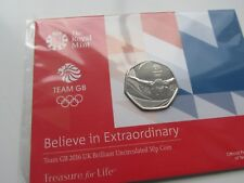 """2016 UK 50p coin. Team GB. Mint / sealed. """"Believe in Extraordinary"""""""