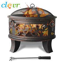 "26"" Vineyard Outdoor Firepit Fire Pit Basket Heater Patio Fireplace Heater"