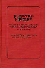 Puppetry Library: An Annotated Bibliography Based on the Batchelder-McPharlin Co