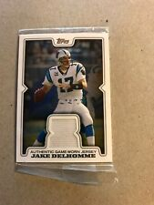 Jake Delhomme Topps Authentic Game Worn Jersey Card.2008. R-JD