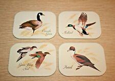 New listing Avon Chesapeake Collection Mallard Ducks Set of 4 Beverage Drink Coasters 1981
