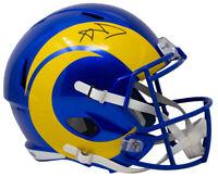 Aaron Donald Signed Los Angeles Rams Full Size Blue Speed Replica Helmet JSA ITP
