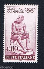 ITALIA 1 FRANCOBOLLO GIOCHI OLIMPIADE 100 LIRE 1960 nuovo**