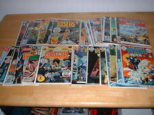 DC Vintage War Comic lot: Capt. Storm, Sgt. Rock, Wierd War! Silver/ Bronze Age!