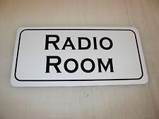 Radio Room Metal Sign 6x12