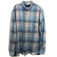 Vineyard Vines Men's Sz L Slim Fit Tucker Shirt Button Down WHALE Blue Plaid EUC