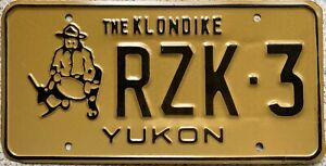 Yukon Miner Klondike  Canadian License Licence Canada Number Plate Tag RZK 3