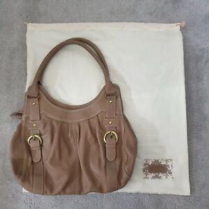Laura Ashley Ladies Light Brown Soft Leather Handbag Shoulder Bag