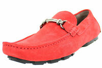 Kenneth Cole Mens Shoes Suede Mocassin Loafers Just My Type KMH5SU008 Red