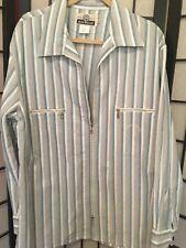 BLUE WILLI'S WILLIS Women's Stripe Cotton Shirt Blouse Top size XLarge