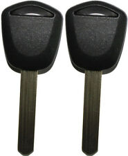 2(pair) FOR ACURA HONDA REPLACEMENT TRANSPONDER CHIPPED UNCUT BLADE KEY BLANK