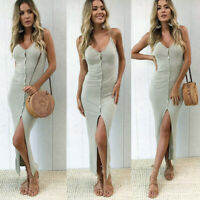 Womens chunky Loose trim sexy Party Long Dresses Ladies Beach Maxi Wrap Dresses