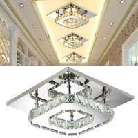 Lampe de plafond en cristal LED minimaliste salon d'entrée lumière