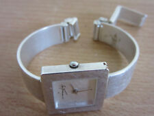 Vintage Melies Signed Sterling Silver womens wrist watch Limited Edition 52/1000