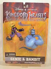 "RARE 2002 5.25"" Genie & 4"" Bandit NEW Action Figure Disney Kingdom Hearts Mirage"