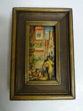 Anri Italy Wood Carving 3D Wall Picture Frame Carl Spitzweg